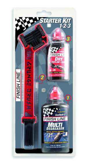 Finish Line Starter Kit 1-2-3-The Grunge Brush Combo 2 - Limpieza y mantenimiento - rojo/negro